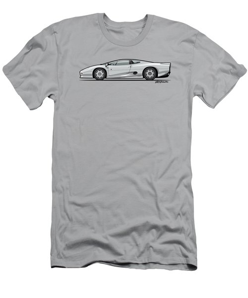 Jag Xj220 Spa Silver Men's T-Shirt (Slim Fit) by Monkey Crisis On Mars