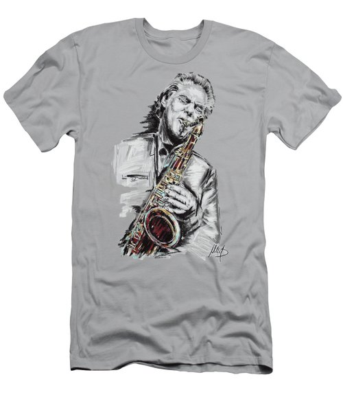 Jan Garbarek Men's T-Shirt (Slim Fit) by Melanie D