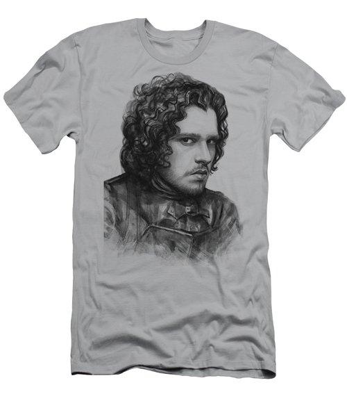 Jon Snow Game Of Thrones Men's T-Shirt (Slim Fit) by Olga Shvartsur