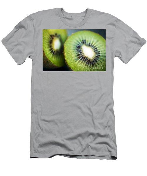 Kiwi Fruit Halves Men's T-Shirt (Slim Fit) by Ray Laskowitz - Printscapes