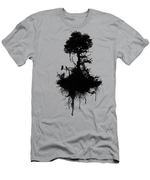 Last Tree Standing Men's T-Shirt (Slim Fit) by Nicklas Gustafsson