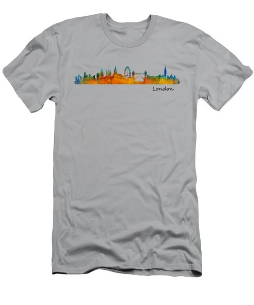 London City Skyline Hq V1 Men's T-Shirt (Slim Fit) by HQ Photo