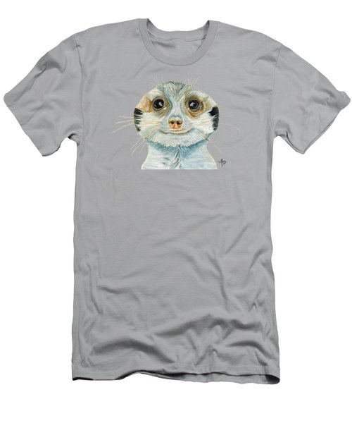 Meerkat Men's T-Shirt (Slim Fit) by Angeles M Pomata