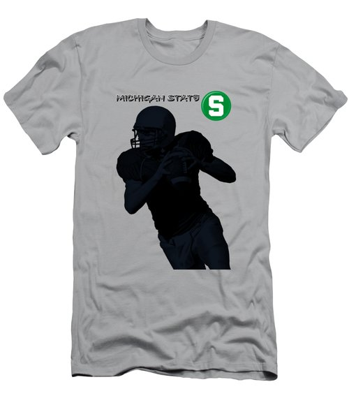 Michigan State Football Men's T-Shirt (Slim Fit) by David Dehner