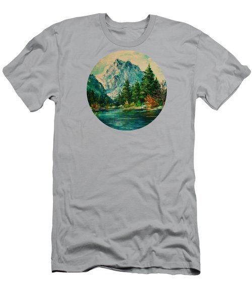 Mountain Lake Men's T-Shirt (Slim Fit) by Mary Wolf