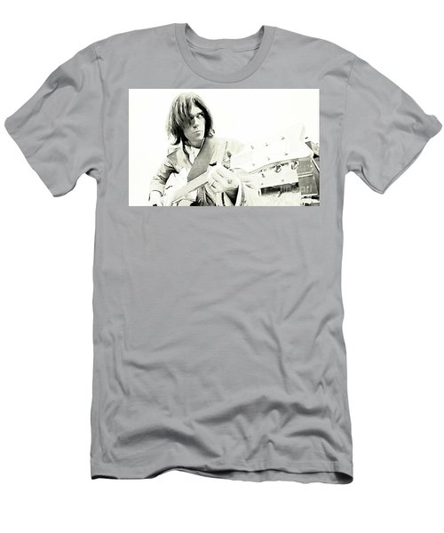 Neil Young Watercolor Men's T-Shirt (Slim Fit) by John Malone