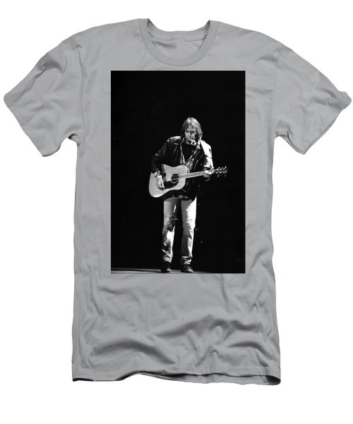 Neil Young Men's T-Shirt (Slim Fit) by Wayne Doyle