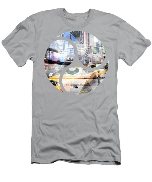 New York City Geometric Mix No. 9 Men's T-Shirt (Slim Fit) by Melanie Viola