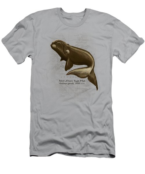 North Atlantic Right Whale Men's T-Shirt (Slim Fit) by Amber Marine