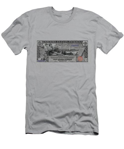 One Dollar Note - 1896 Educational Series  Men's T-Shirt (Slim Fit) by Serge Averbukh