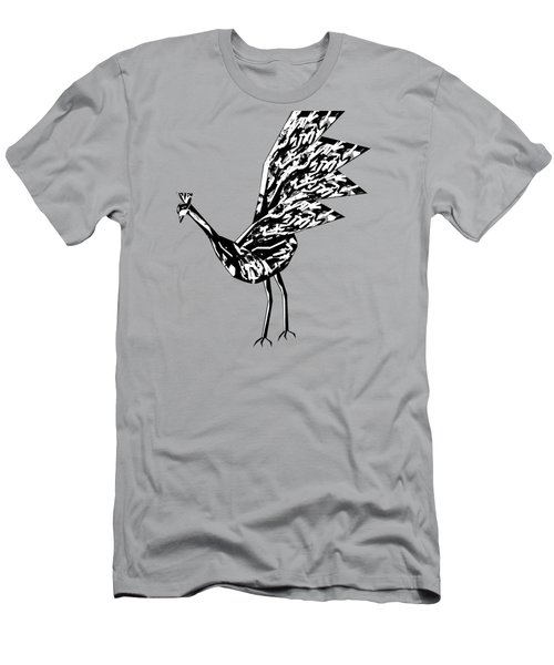 Peacock Dance B Men's T-Shirt (Slim Fit) by Thecla Correya