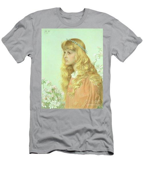 Portrait Of Miss Adele Donaldson, 1897 Men's T-Shirt (Slim Fit) by Anthony Frederick Augustus Sandys
