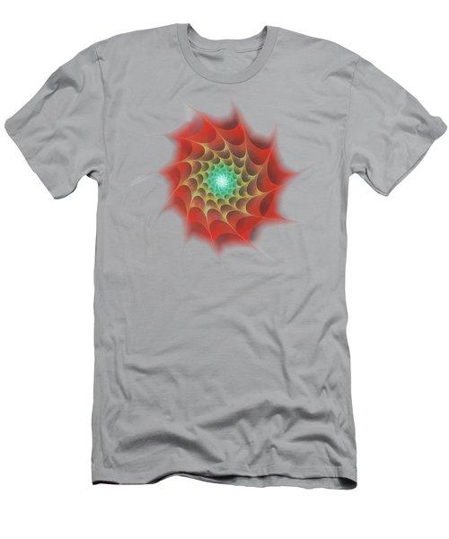 Red Web Men's T-Shirt (Slim Fit) by Anastasiya Malakhova