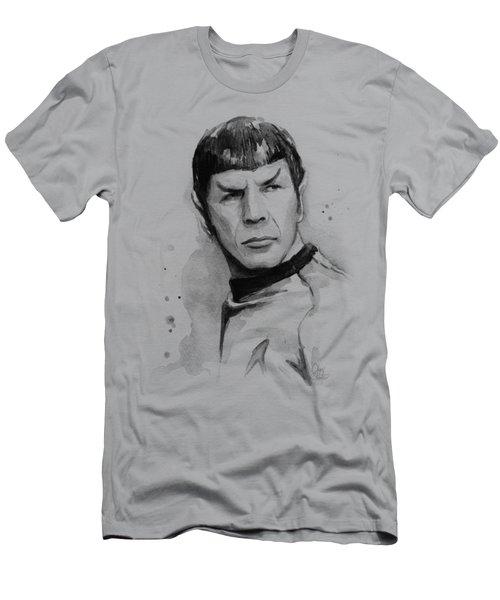 Spock Portrait Men's T-Shirt (Slim Fit) by Olga Shvartsur