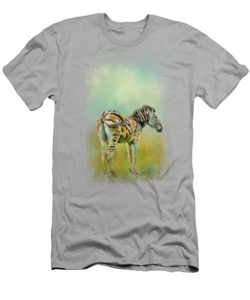 Summer Zebra 1 Men's T-Shirt (Slim Fit) by Jai Johnson