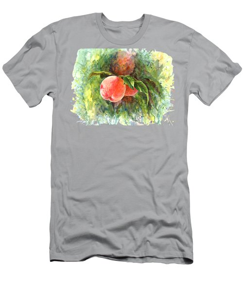 Sunny Peaches Men's T-Shirt (Slim Fit) by Irina Viatkina