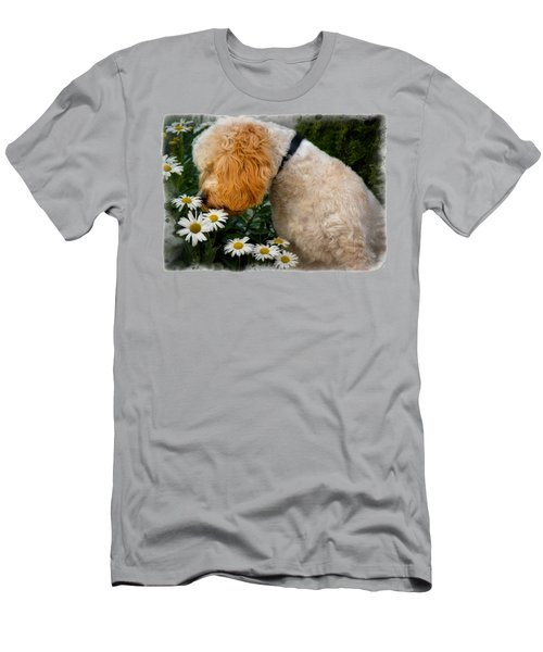 Taking Time To Smell The Flowers Men's T-Shirt (Slim Fit) by Susan Candelario