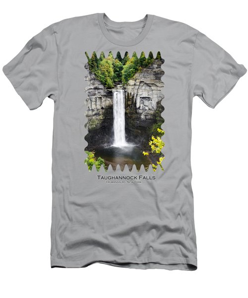 Taughannock Falls View From The Top Men's T-Shirt (Slim Fit) by Christina Rollo