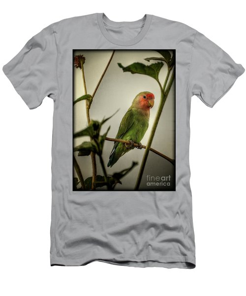 The Lovebird  Men's T-Shirt (Slim Fit) by Saija  Lehtonen