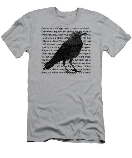 The Raven Poem Art Print Men's T-Shirt (Slim Fit) by Sandra McGinley