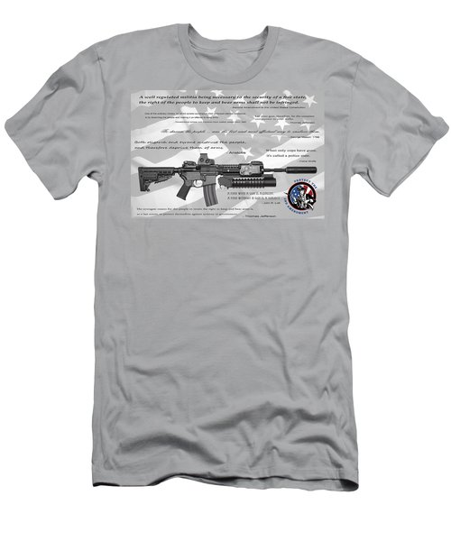 The Right To Bear Arms Men's T-Shirt (Slim Fit) by Daniel Hagerman