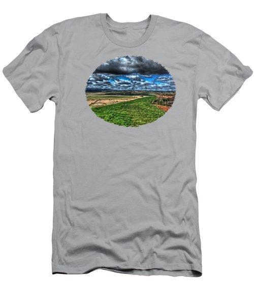 Van Duzer Vineyards View Men's T-Shirt (Slim Fit) by Thom Zehrfeld