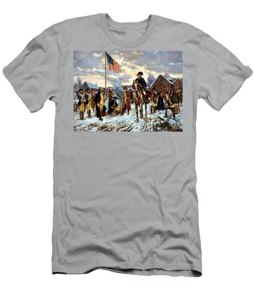 Washington At Valley Forge Men's T-Shirt (Slim Fit) by War Is Hell Store