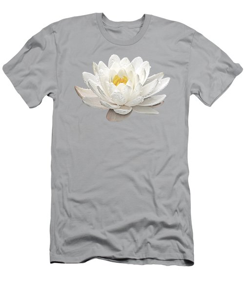 Water Lily Whirlpool Men's T-Shirt (Slim Fit) by Gill Billington