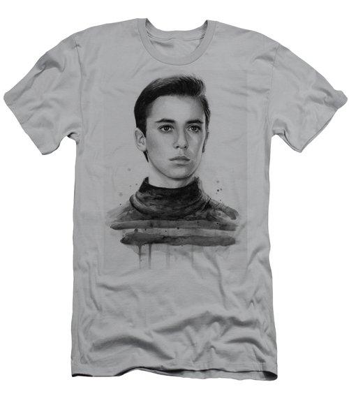 Wesley Crusher Star Trek Fan Art Men's T-Shirt (Slim Fit) by Olga Shvartsur