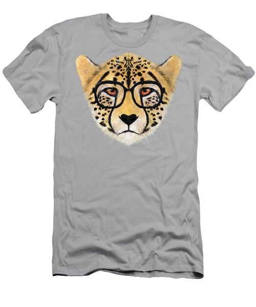 Wild Cheetah With Glasses  Men's T-Shirt (Slim Fit) by David Ardil