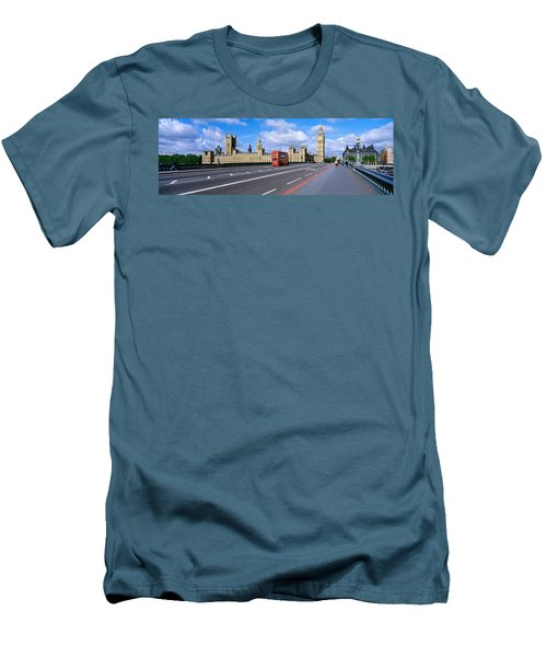 Parliament Big Ben London England Men's T-Shirt (Slim Fit) by Panoramic Images