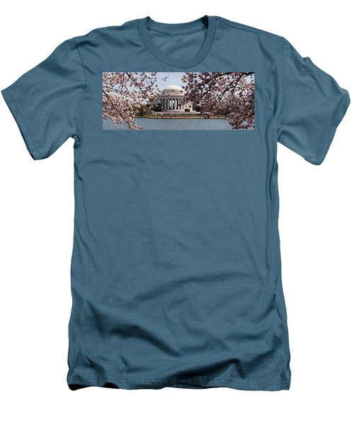 Cherry Blossom Trees In The Tidal Basin Men's T-Shirt (Slim Fit) by Panoramic Images