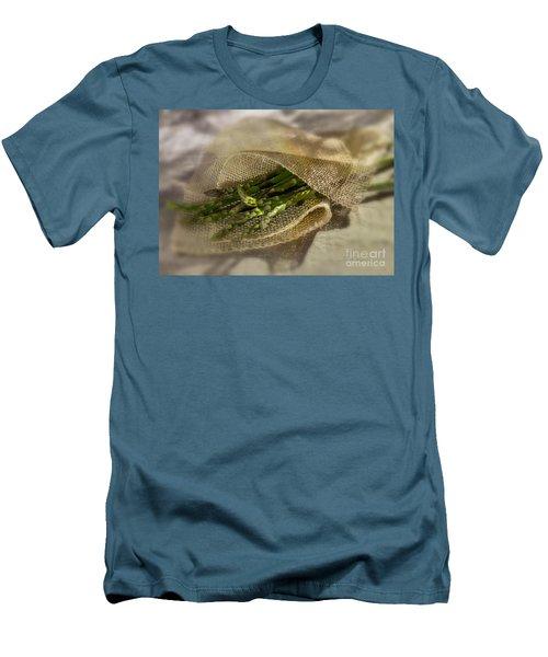 Green Asparagus On Burlab Men's T-Shirt (Slim Fit) by Iris Richardson