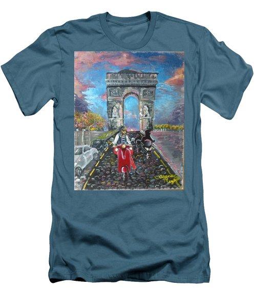 Arc De Triomphe Men's T-Shirt (Slim Fit) by Alana Meyers