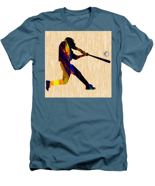 Baseball Game Art Men's T-Shirt (Slim Fit) by Marvin Blaine