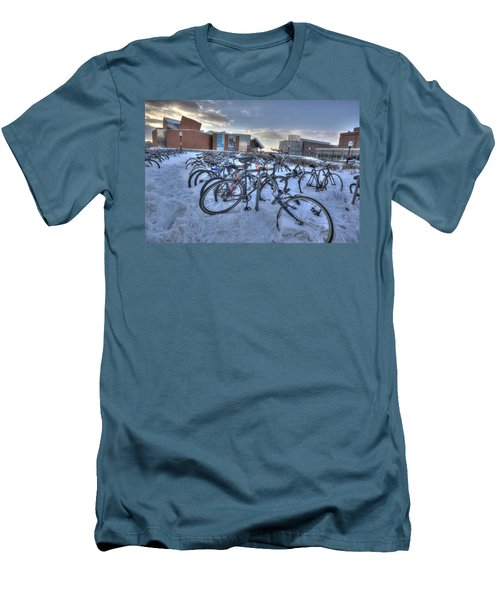 Bikes At University Of Minnesota  Men's T-Shirt (Slim Fit) by Amanda Stadther