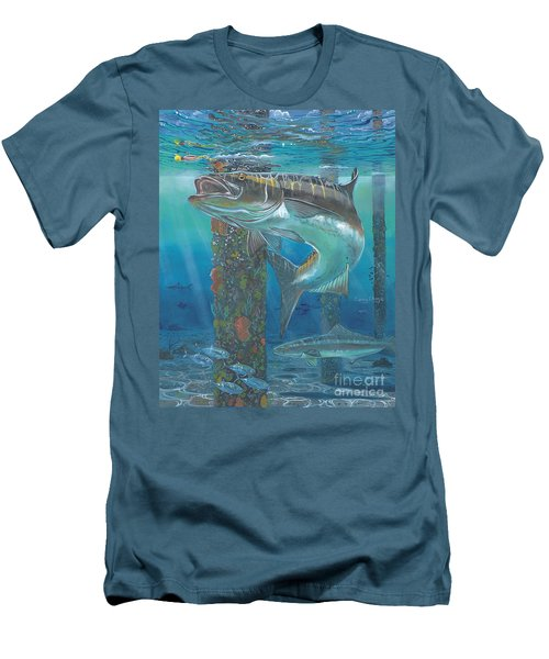 Cobia Strike In0024 Men's T-Shirt (Slim Fit) by Carey Chen