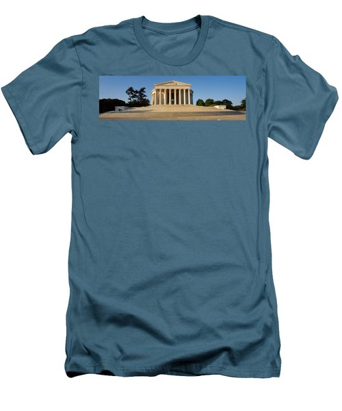Facade Of A Memorial, Jefferson Men's T-Shirt (Slim Fit) by Panoramic Images