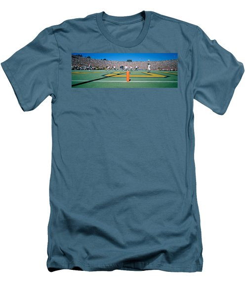 Football Game, University Of Michigan Men's T-Shirt (Slim Fit) by Panoramic Images