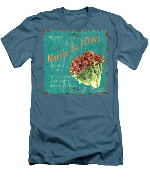 French Market Sign 3 Men's T-Shirt (Slim Fit) by Debbie DeWitt