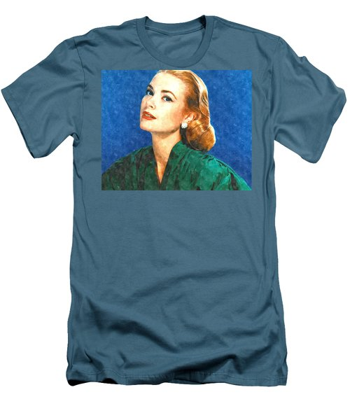 Grace Kelly Painting Men's T-Shirt (Slim Fit) by Gianfranco Weiss