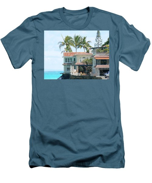 House At Land's End Men's T-Shirt (Slim Fit) by Dona  Dugay