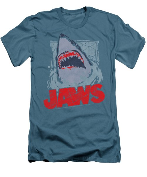 Jaws - From The Depths Men's T-Shirt (Slim Fit) by Brand A