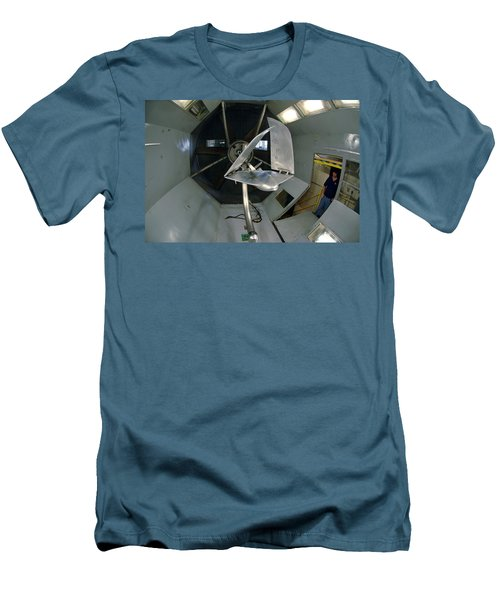 Men's T-Shirt (Slim Fit) featuring the photograph Model Airplane In Wind Tunnel by Science Source