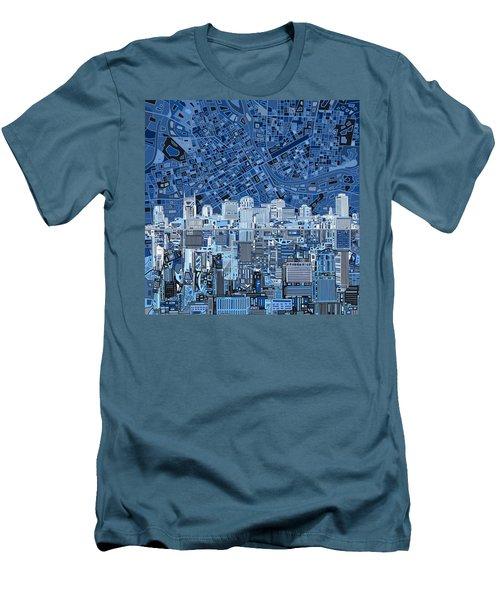 Nashville Skyline Abstract Men's T-Shirt (Slim Fit) by Bekim Art