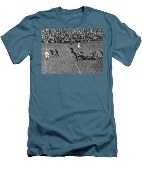 Notre Dame Versus Army Game Men's T-Shirt (Slim Fit) by Underwood Archives