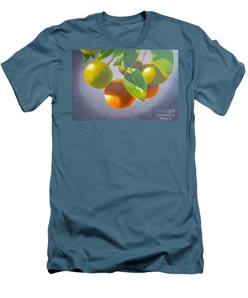 Oranges Men's T-Shirt (Slim Fit) by Carey Chen