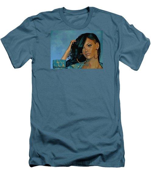 Rihanna Painting Men's T-Shirt (Slim Fit) by Paul Meijering