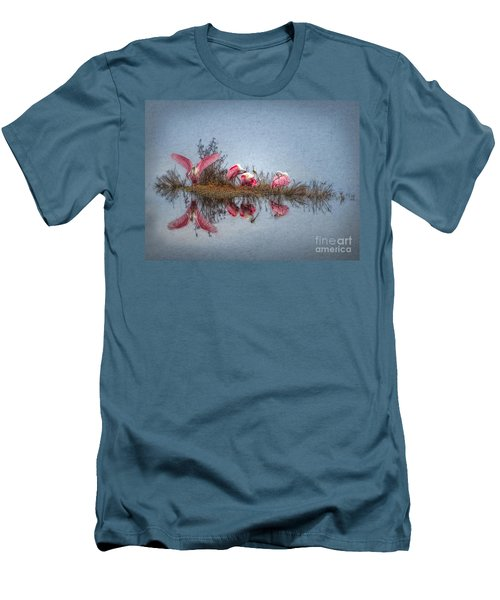 Roseate Spoonbills At Rest Men's T-Shirt (Slim Fit) by Lianne Schneider