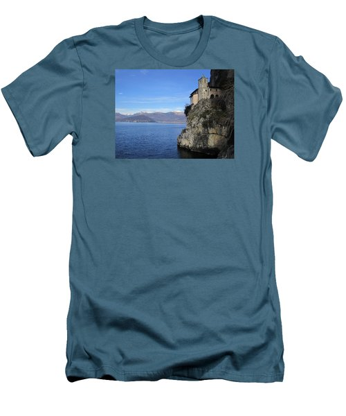 Men's T-Shirt (Slim Fit) featuring the photograph Santa Caterina - Lago Maggiore by Travel Pics